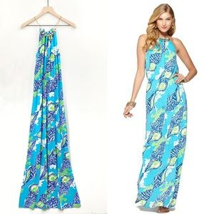 Lilly Pulitzer Inna Maxi Dress Sound The Horn XS